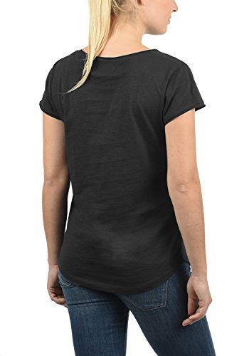 In Maglietta 9000 Lydi Con Cotone Maniche T Black A 100 Desires Girocollo shirt Donna Corte Da ZPwUx