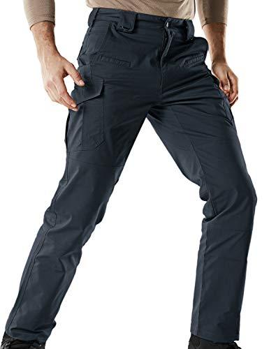 CQR Men's Tactical Pants Lightweight EDC Assault Cargo, Flex Hidden D Ring(tfp513) - Navy, 36W/36L ()