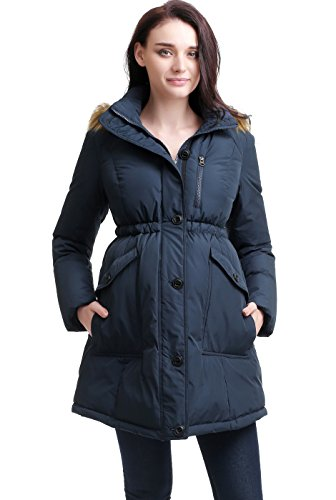 "Momo Maternity ""Nori Hooded Down Parka Coat - S"