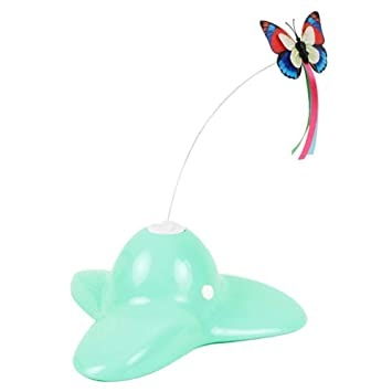 Zenes Funny Cat Toy Butterfly - Electric Flutter Rotating Butterfly