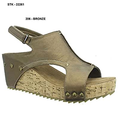 Pierre Dumas Womens Shoes Hester Leather Open Toe Casual