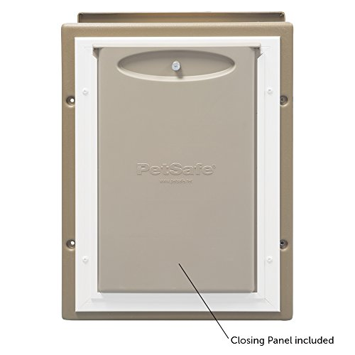 PetSafe Wall Entry Pet Door with Telescoping Tunnel, Medium, Taupe and White by PetSafe (Image #2)'