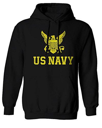 US Navy Seal United States of America Combat Soldier Hoodie (Black, Large)