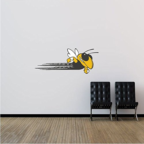 Georgia Tech Yellow Jackets NCAA USA Bee Logo College Sport Set of 2 Art Wall Decor Sticker 25'' x 9''
