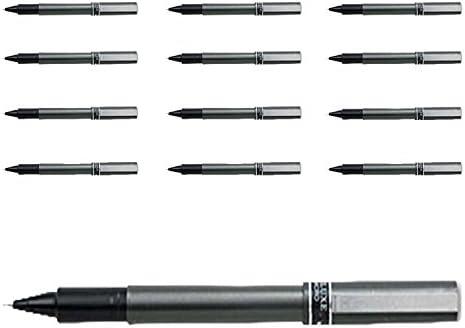 Deluxe Rollerball Pen Waterproof//Pigmented Black, 1-Pack of 12 0.5 mm Uniball
