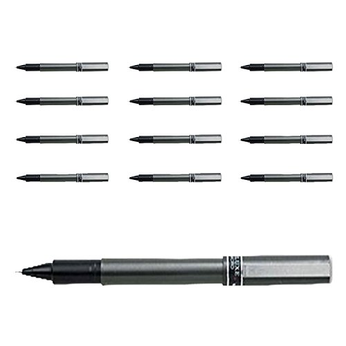 - Uniball - Deluxe Rollerball Pen, Waterproof/Pigmented, 0.5 mm, Black, (1-Pack of 12)