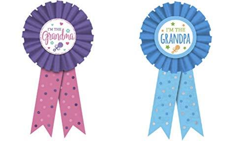 Grandma and Grandpa Award Ribbons Set (2 Pieces)