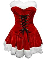 BSLINGERIE® Red Christmas Santa Baby Women Full Costume Outfit