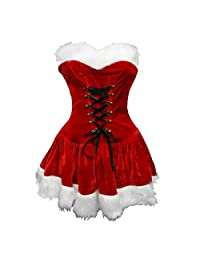 Bslingerie® Red Christmas Santa Girl Women Full Costume