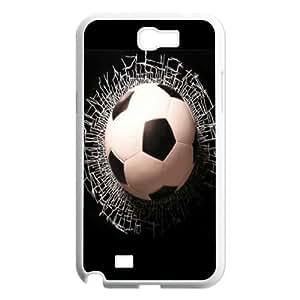 [H-DIY CASE] For Samsung Galaxy Note 2 -Love Football-CASE-4
