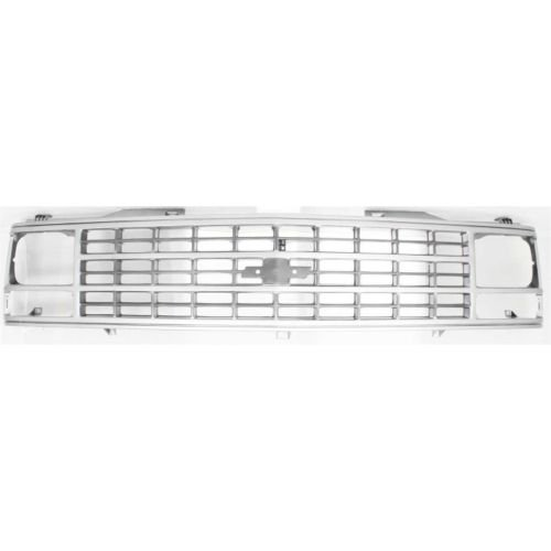 93 K1500 Pickup (Make Auto Parts Manufacturing - C/K FULL SIZE PICKUP 88-93 GRILLE, Ptd-Dark Argent, w/ Single Sealed Beam Headlight, Exc. WT Model -)