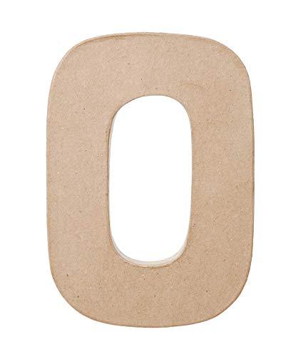 Darice Paper Mache Letter  O  8 x 55 x 1 inches