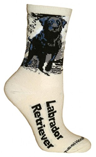 Black Lab Natural Color Cotton Ladies Socks, Size 9-11 (shoe size 6-8.5)