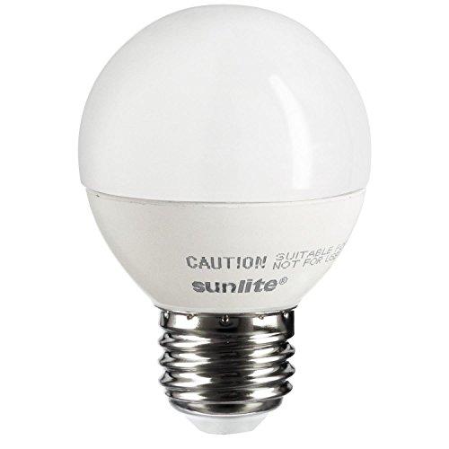 Sunlite G16/5W/E26/DIM/FR/ES/27K LED Globe 2700K Energy Star Dimmable Light Bulb, 4W, Frosted Warm White