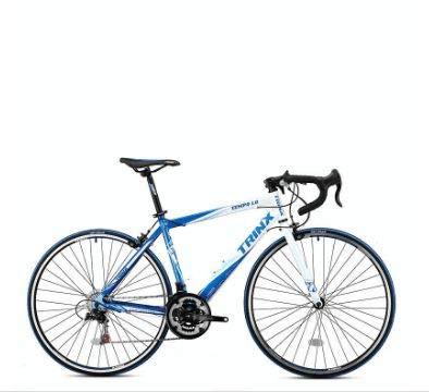 Trinx TEMPO1.0 700C Road Bike Shimano 21 Speed Racing Bicycle (Blue/White, 56cm)