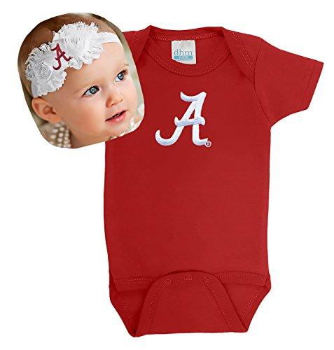 - Future Tailgater Alabama Crimson Tide Baby Onesie and Shabby Bow Headband (3-6 Months)