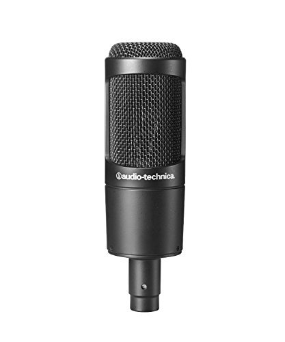 (Audio-Technica AT2035 Large Diaphragm Studio Condenser Microphone (Renewed))