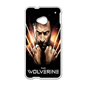 HTC One M7 Phone Cases White Wolverine FJo900634