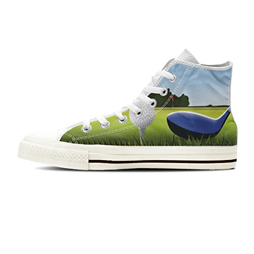 Gnarly Tees Women's Golf Shoes, High Top, White, Size 7.5