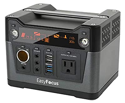 EasyFocus Portable Power Station Portable Lithium Rechargeable Solar Generator