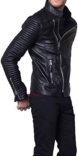 Handmade Fitters Men Slim Fit Leather Jacket