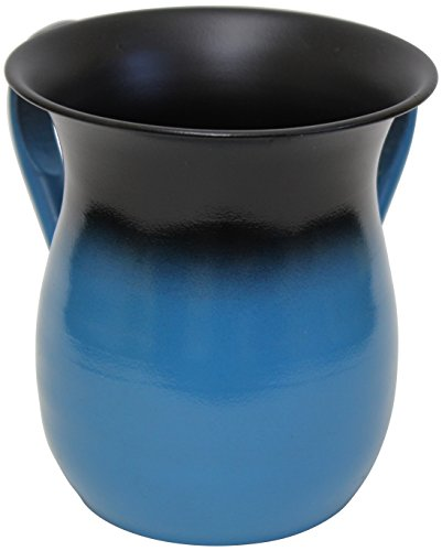 Majestic Giftware Wash Cup Stainless steel Light Blue 5.Inch H #530