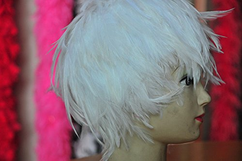 White Hackle Feather Costume Wig Halloween Costume Coque Feather Wigs (Atlanta, (Halloween Costume Parties Atlanta)