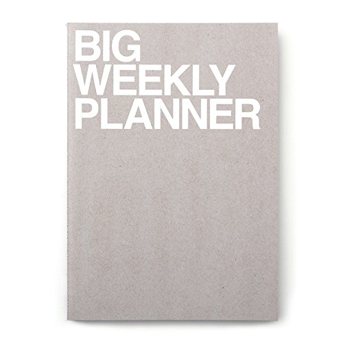JSTORY Big Personal Wide Spaces Weekly Planner 28 Sheets Gray