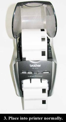 12PK Brother Compatible DK-2205 Continuous Paper Labels (Reusable Cartridge Sold Separately) for Brother QL-500 QL-550 QL-570 QL-580N QL-650TD QL-700 QL-710W QL-720NW QL-1050 QL-1050N QL-1060N QL Printer Photo #4