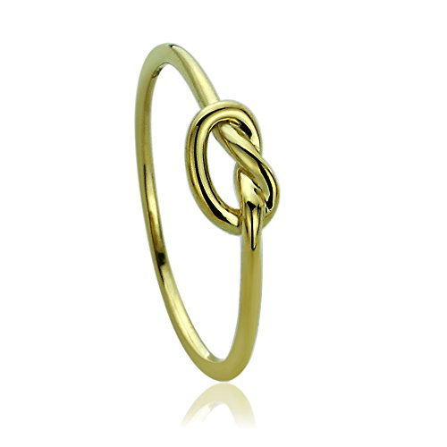 14K Yellow Gold Wedding Ring Plain Gold Celtic Love Knot Promise Ring, - Gold Knot 14k Love Ring
