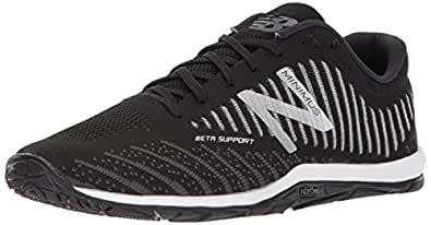 New Balance Men's 20v7 Minimus Training Shoe, Black/White, 7.5 D US