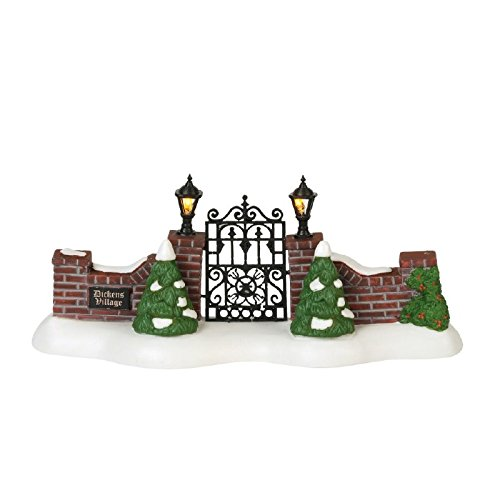 Department 56 Dickens Village Dickens' Village Gate (Manor Gate Gate Manor)