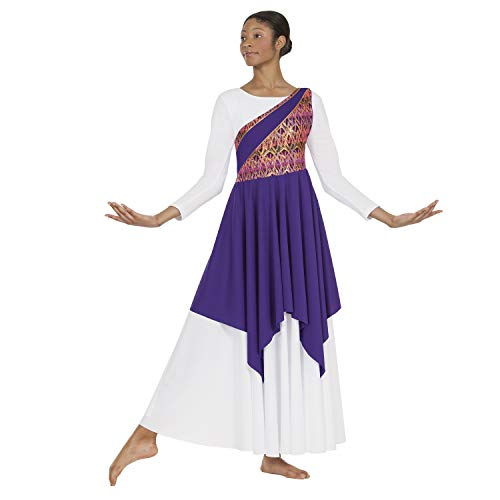 Cheap Dance Uniforms - Eurotard 63567 Adult Joyful Praise Asymmetrical