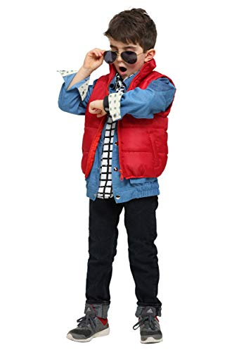 Back to The Future Marty McFly Toddler Costume 4T Blue, Red -