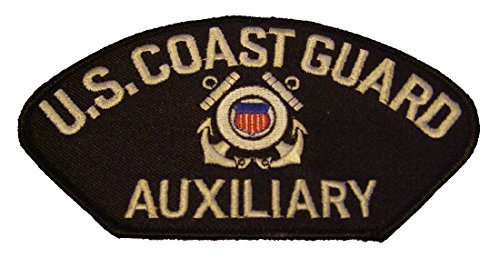 Auxiliary Patch - US COAST GUARD AUXILIARY with CREST PATCH - Color - Veteran Owned Business