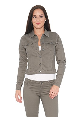 Suko Jean Stretch Twill Jacket for Women with lace-up cuff 97679 SAGE X-Small