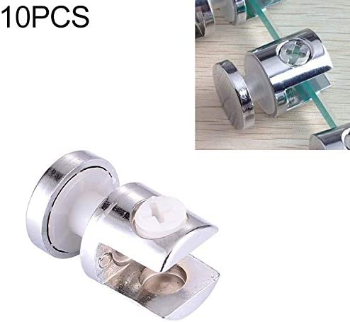 Fixing Clip 10 PCS Zinc Alloy Bright Fixed Bracket Connection 12mm Cylindrical Glass Fixing Clamp with Base