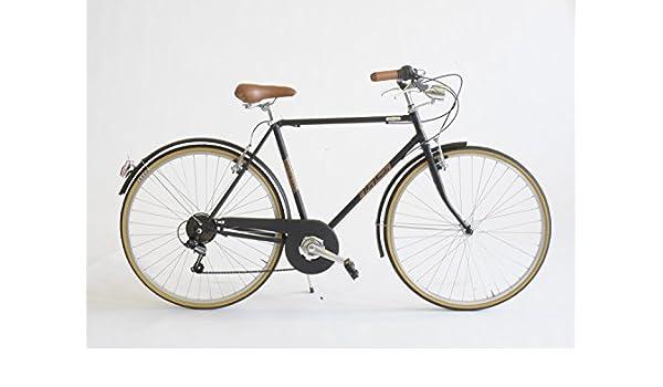Bicicleta condorino Hombre MADE IN ITALY Via Veneto, nero polvere ...