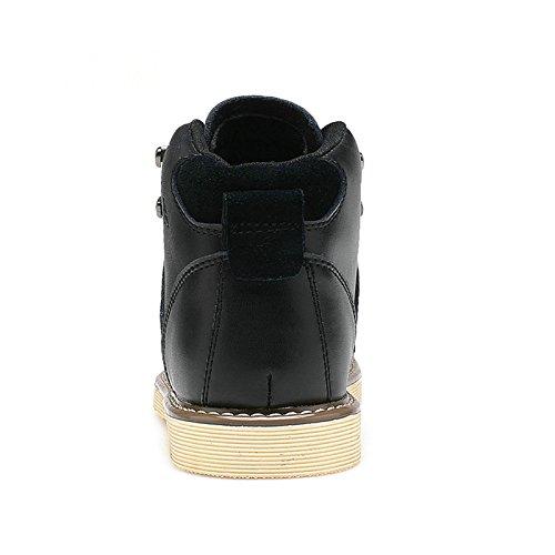 Tba Menns Lether Ankel Boots Black