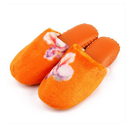 Chaussons Femmes d'hiver Home Indoor Floor Anti-dérapant Colorful Keep Warm Cotton Slippers ( taille : 37-38 )