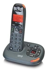 Audioline BIGTEL 158 - Teléfono (DECT, 15 min, Gris, Escritorio, DEU, DUT, ENG, POL, TUR, 50 entradas)