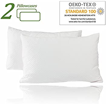 Amazon Com Zippered Bamboo Pillow Cases Pack Of 2