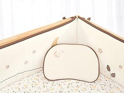 Baby Memory Foam Pillow for Newborn Prevent Flat Head Infant Sleep Positioner Pillow Set with Organic Pillowcase