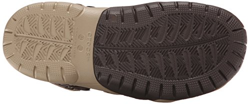 Crocs - Swiftwater cuir Clog Hommes, EUR: 42.5, Khaki/Espresso