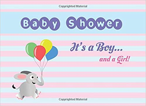 Baby Shower Its A Boy And A Girl Modern Welcome Baby Guest Book