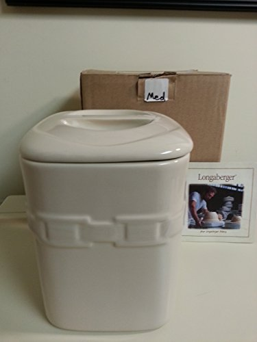 Longaberger Ivory Medium Canister With Lid Pottery New In Box
