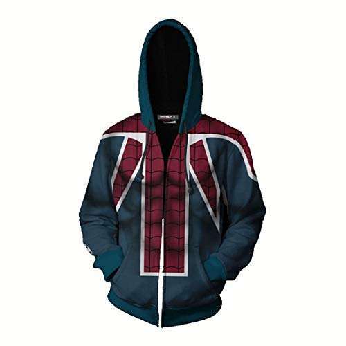 HIMIC E77C Super Hero Fashion Cosplay Hoodie Jacket (X-Large, Spider 9-4)