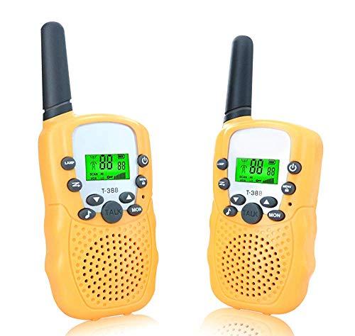 ANCICO Walkie Talkies for Kids, 22 Channel Two Way Radio 3 Miles (Up to 5Miles) Walkies Talkies , Long Range Wireless Handheld Mini Outdoor Camping Toys for Boys Girls( 1 Pair ) Yellow (Talkies Walkie Tent)
