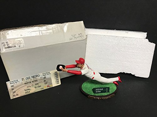 Louis Cardinals Tickets (Jim Edmonds 2005 St Louis Cardinals Limited Edition Figurine SGA with Ticket)