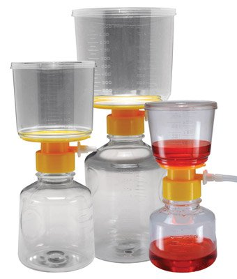 Stellar Scientific Vacuum Filtration Unit, Pes Membrane, .45Um, 150Ml, Individually Wrapped, Sterile, 12/Cs